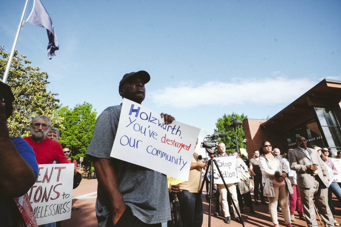 Activists And Residents Rally To Protest Evictions At Belmont